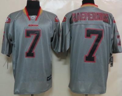 e2191bcedcc Nike San Francisco 49ers  7 Colin Kaepernick Lights Out Gray Elite Jersey