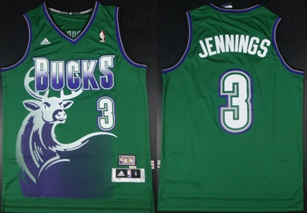 Milwaukee Bucks #3 Brandon Jennings ABA Hardwood Classics Swingman ...