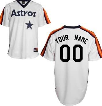 buy online c8a9f 2c463 Men's Houston Astros Customized White Throwback Jersey on ...