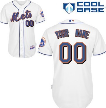 mens new york mets customized white jersey