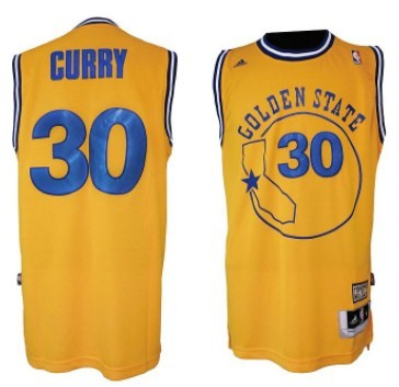 3a8ea9129c03 ... golden state warriors 30 stephen curry aba hardwood classic swingman  yellow jersey