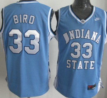 official photos b054a af971 larry bird indiana state jersey for sale