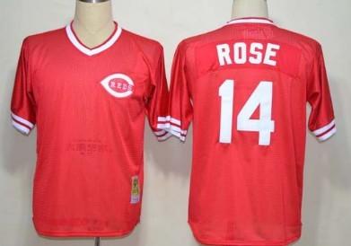 Cincinnati Reds #5 Johnny Bench Mesh BP Red Throwback Jersey
