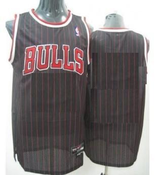 new product eab7b 54136 Mens Chicago Bulls Customized Black Pinstripe Jersey on sale ...
