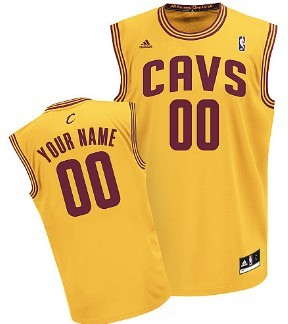 8edad7399 Kids Cleveland Cavaliers Customized Yellow Jersey on sale