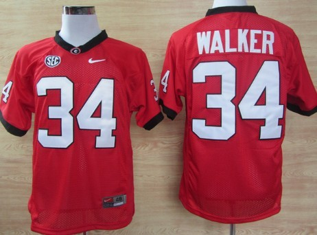 d592ca874e7 Georgia Bulldogs  34 Herschel Walker Red Jersey on sale