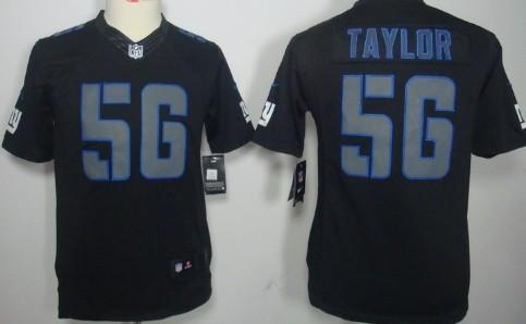 various colors ab710 bb7b9 Nike New York Giants #56 Lawrence Taylor Black Impact ...