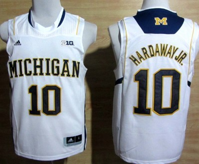 new arrival fd224 06030 Michigan Wolverines #10 Tim Hardaway Jr. White Big 10 Patch ...