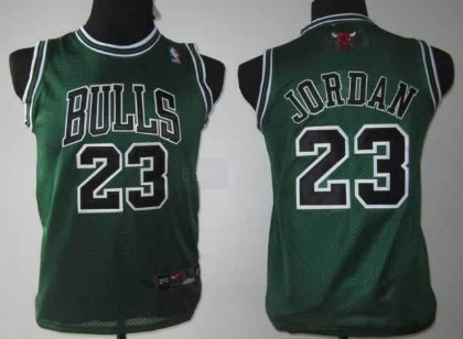 Chicago Bulls #23 Michael Jordan Green Kids Jersey on sale,for ...