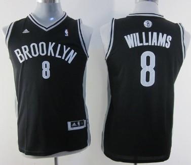 Brooklyn Nets #8 Deron Williams Black Kids Jersey