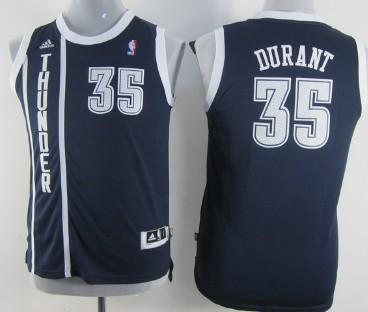 uk availability 8d3a8 eceb0 Oklahoma City Thunder #35 Kevin Durant Navy Blue Kids Jersey ...