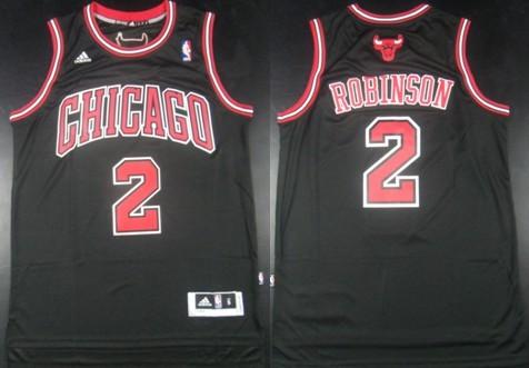 af17eb8a7 Chicago Bulls  2 Nate Robinson Revolution 30 Swingman Black Jersey ...
