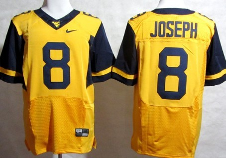 West Virginia Mountaineers #8 Karl Joseph 2013 Yellow Elite Jersey
