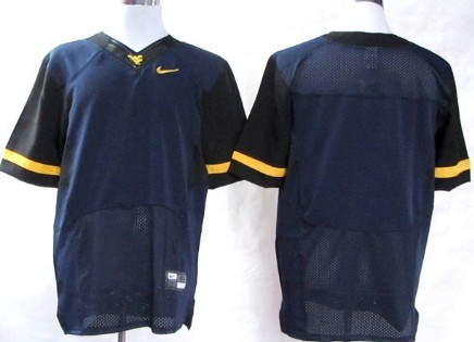West Virginia Mountaineers Blank 2013 Navy Blue Elite Jersey