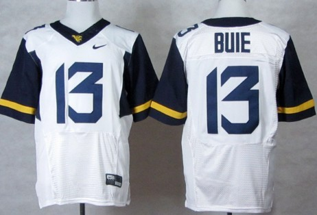 West Virginia Mountaineers #13 Andrew Buie 2013 White Elite Jersey