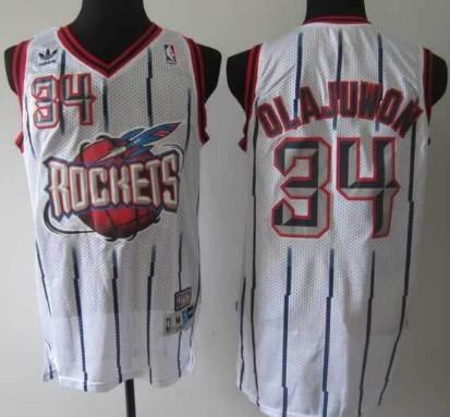 online store 828d8 f9161 Houston Rockets #34 Hakeem Olajuwon ABA Hardwood Classic ...