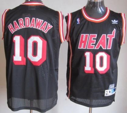 newest 5f4eb 30be2 Miami Heat #10 Tim Hardaway Black Swingman Throwback Jersey ...