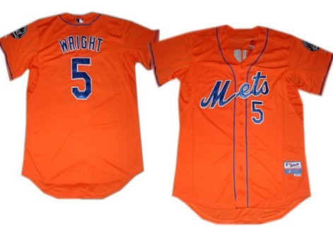 buy popular 496f6 6e737 York David Orange New 5 for On Mets Wright Jersey wholesale ...