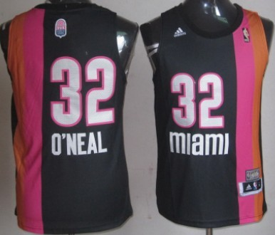 14d7985c9 Miami Floridians  32 Shaquille O neal ABA Hardwood Classic Swingman Black  Jersey