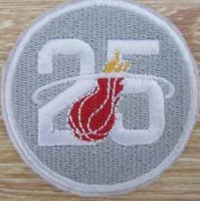 Miami Heat 25th Anniversary Patch
