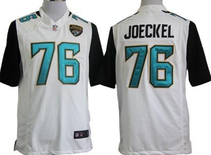 Nike Jacksonville Jaguars #76 Luke Joeckel 2013 White Game Jersey