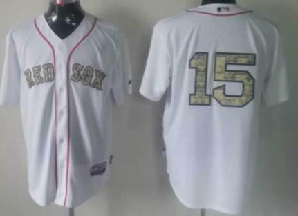 Boston Red Sox  15 Dustin Pedroia White With Camo Jersey on sale 627f42e1f48