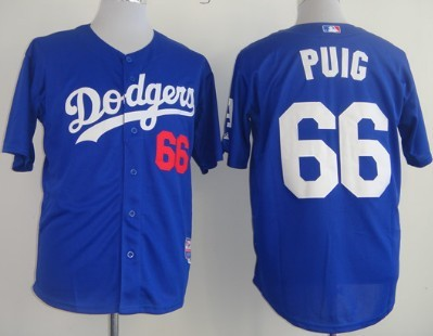 separation shoes 1f932 f3d56 Los Angeles Dodgers #66 Yasiel Puig Blue Jersey on sale,for ...
