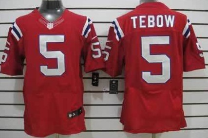 new concept 969b3 8ab0d Nike New England Patriots #5 Tim Tebow Red Elite Jersey on ...