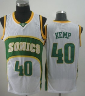 b85895664813 seattle supersonics 40 shawn kemp 1994 95 white swingman jersey
