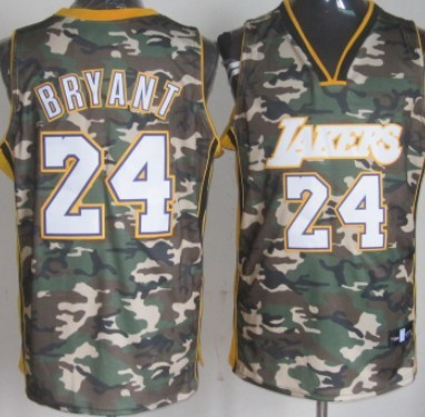 Los Angeles Lakers #24 Kobe Bryant Camo Fashion Jersey on sale,for ...