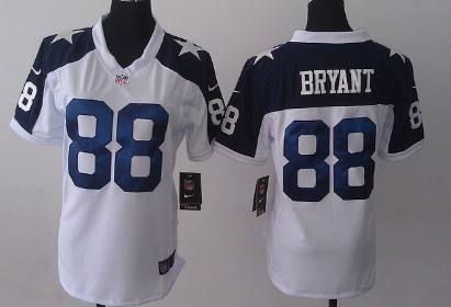 bba776d2ac6 Nike Dallas Cowboys #88 Dez Bryant White Thanksgiving Game Womens Jersey