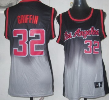 Los Angeles Clippers #32 Blake Griffin Black/Gray Fadeaway Fashion Womens Jersey
