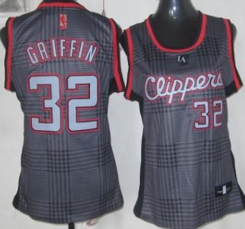 Los Angeles Clippers #32 Blake Griffin Black Rhythm Fashion Womens Jersey