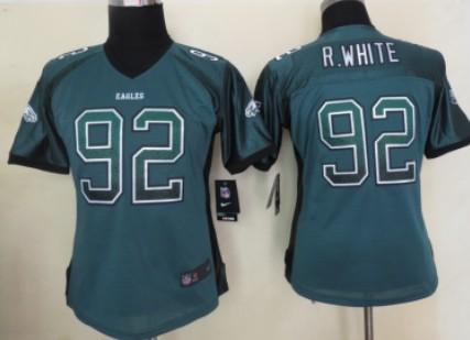 nike philadelphia eagles 92 reggie white drift fashion green womens jersey