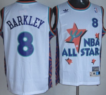 release date 67a53 9689d NBA 1995 All-Star #8 Charles Barkley White Swingman ...