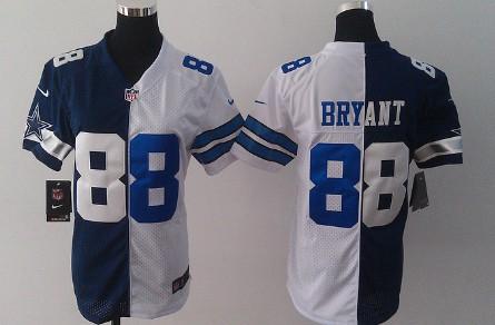 best loved 20fb8 3167b Nike Dallas Cowboys #88 Dez Bryant Blue/White Two Tone ...