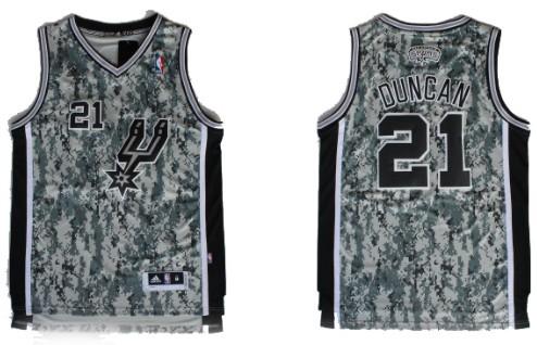 San Antonio Spurs  21 Tim Duncan Revolution 30 Swingman Camo Jersey ... b441b6673