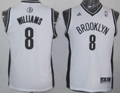 Brooklyn Nets #8 Deron Williams White Kids Jersey