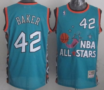 NBA 1996 All-Star #42 Vin Baker Green Swingman Throwback Jersey