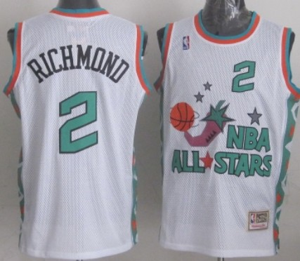 NBA 1996 All-Star #2 Mitch Richmond White Swingman Throwback Jersey