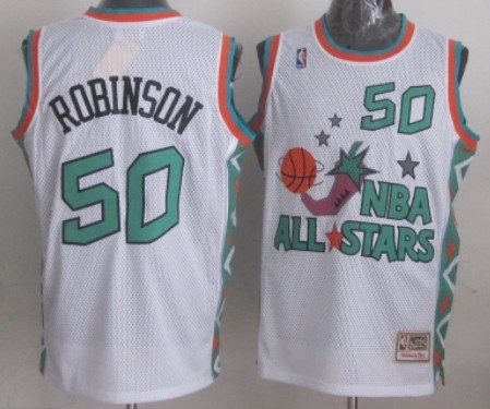 NBA 1996 All-Star #50 David Robinson White Swingman Throwback Jersey