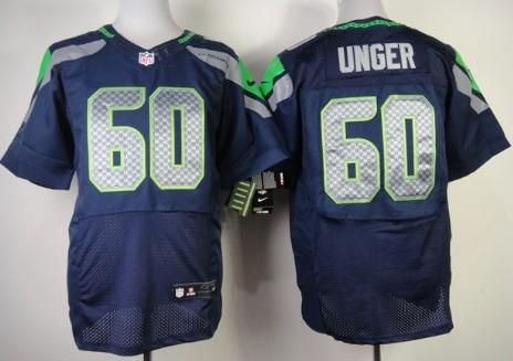 Nike Seattle Seahawks #60 Max Unger Navy Blue Elite Jersey on sale ...