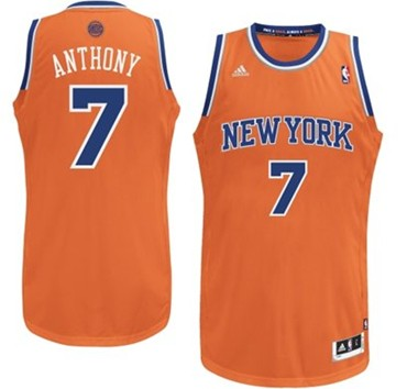 new york knicks 7 carmelo anthony orange swingman jersey