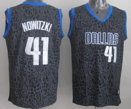 638b00717 ... low cost dallas mavericks 41 dirk nowitzki black leopard print fashion  jersey 66589 feba5