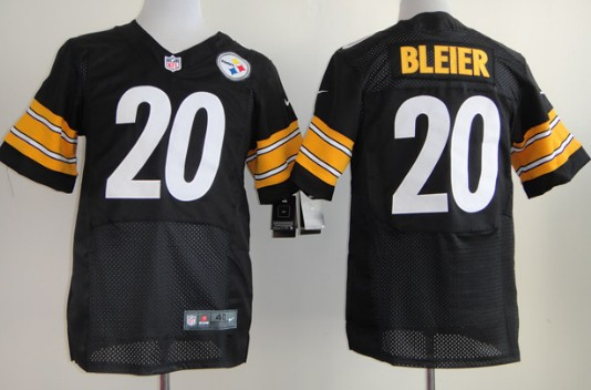 nike pittsburgh steelers 20 rocky bleier black elite jersey