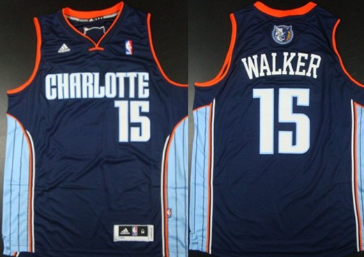 cheap for discount e85d3 e7a9f Charlotte Bobcats #15 Kemba Walker Revolution 30 Swingman ...