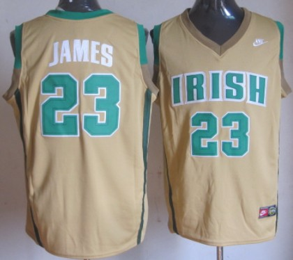 buy online 1163f cee82 The Fighting Irish #23 Lebron James Green Jersey on sale,for ...