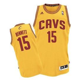 643b5d1d281d Cleveland Cavaliers  15 Anthony Bennett Yellow Swingman Jersey on ...