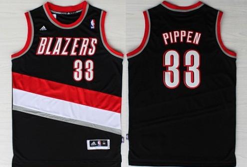 e26f518d269 Portland Trail Blazers #33 Scottie Pippen Revolution 30 Swingman Black  Jersey