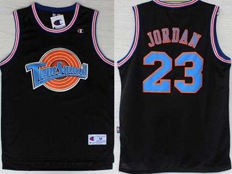 buy online 61521 b1f55 NBA Space Jam #23 Michael Jordan Black Swingman Throwback ...